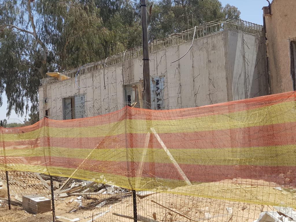 bomb shelter under construction in Israel